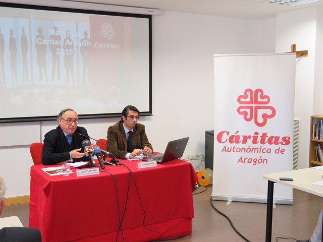 Carlos Sauras y Jesús Luesma, de Cáritas Aragón