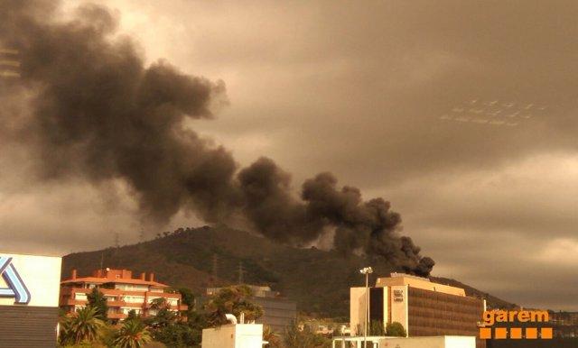 Incendio en las oficinas de Nestlé en Barcelona
