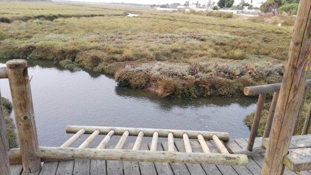Barandilla del puente de Corrales destrozada