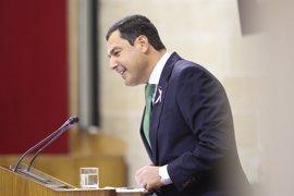 """Moreno dice que Díaz """"no está en Andalucía"""" y que la calle """"ya no la cree"""""""