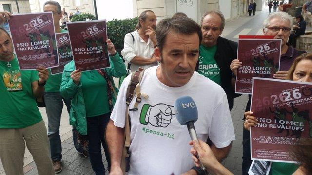 El presidente de FAPA Mallorca, Vicenç Rodrigo