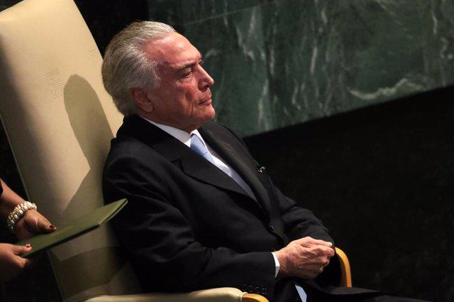 El presidente de Brasil, Michel Temer, en la ONU
