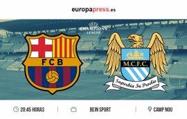 Horario y dónde ver el F.C Barcelona - Manchester City