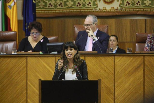 Teresa Rodríguez, en el Debate del Estado de la Comunidad
