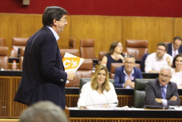 Juan Marín y Susana Díaz, en el Debate sobre el Estado de la Comunidad