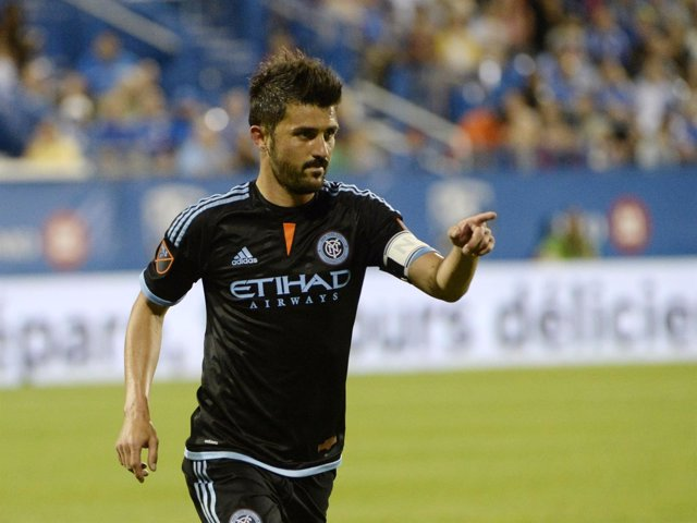 David Villa con New York Ciy