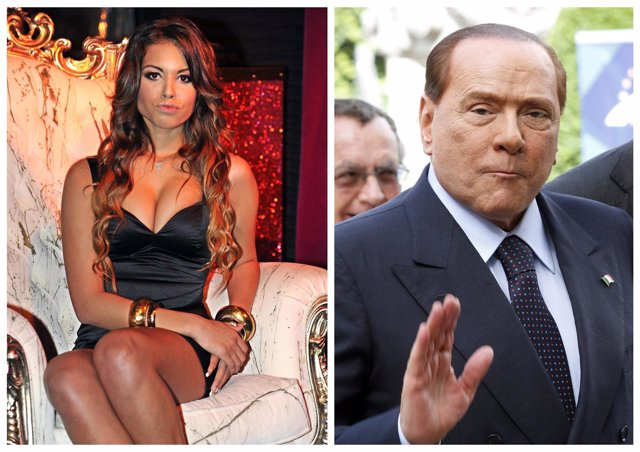 Karima El Mahroug y Silvio Berlusconi
