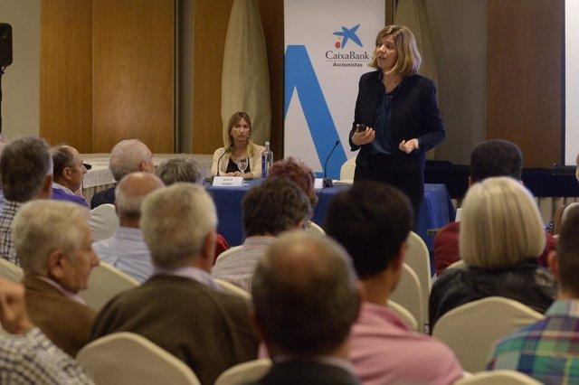 Reunión de Caixabank con accionistas aragoneses