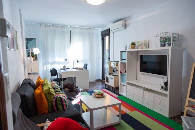 Habitación IKEA para refugiados