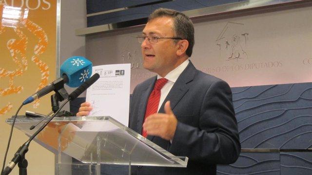 Miguel Ángel Heredia (PSOE), en el Congreso