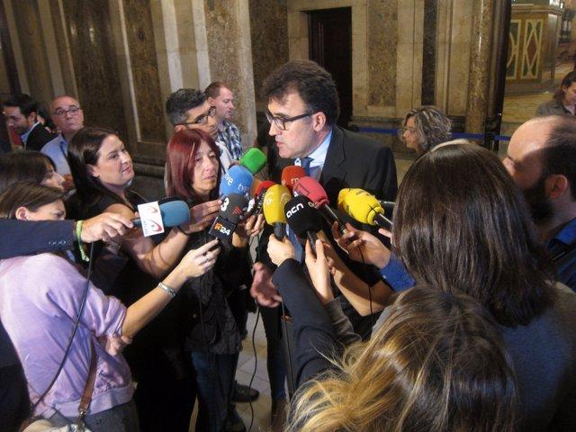 El secretario de Hacienda de la Generalitat, Lluís Salvadó