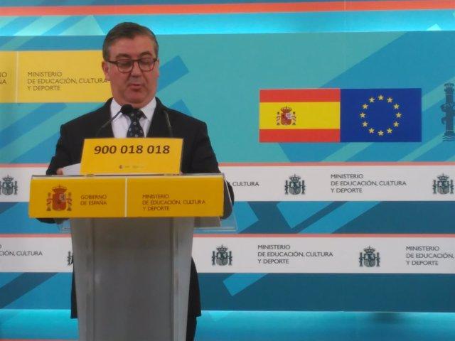 Marcial Marín,secretario de Estado de Educación