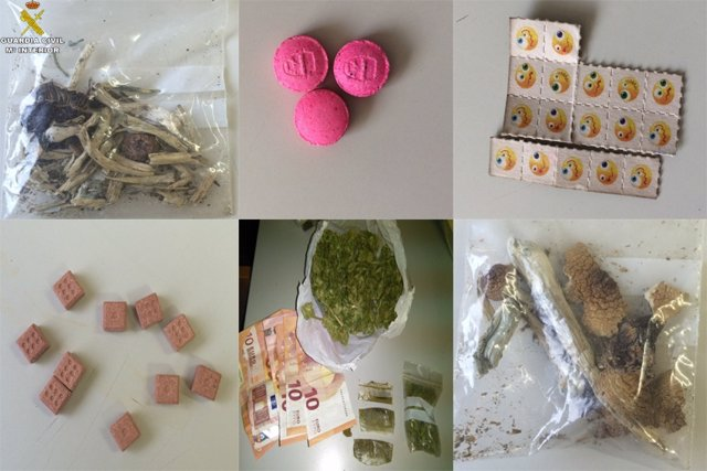 Sustancias intervenidas en el festival.