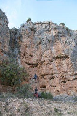 Escalada, turismo de aventura, en la provincia de Zaragoza.