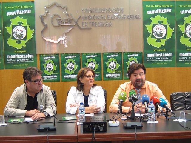 Julián Carretero, Patrocinio Sánchez y Francisco Javier Peinado