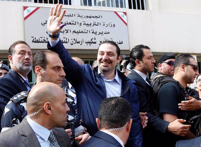 El ex primer ministro libanés Saad Hariri