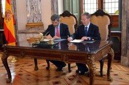 Lesmes y presidente Consejo Magistratura de Portugal