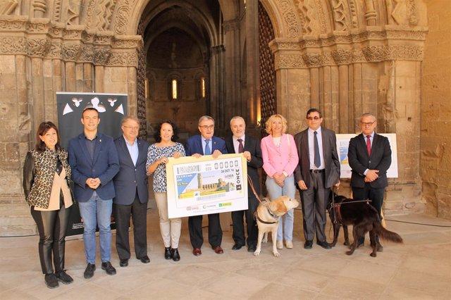 Presentación del cupón de la ONCE del día 24 de octubre en Lleida