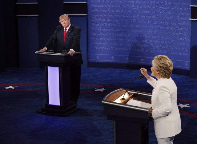 Tercer debate televisado entre Hillary Clinton y Donald Trump
