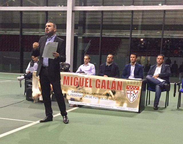 Miguel Galán, candidato a la presidencia de la Federación de Fútbol de Madr