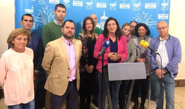 Rueda de Prensa en la que Dolores López renuncia a la Alcaldía