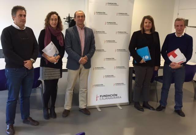 Representantes de las entidades que han recibido la ayuda de Fundación CAN