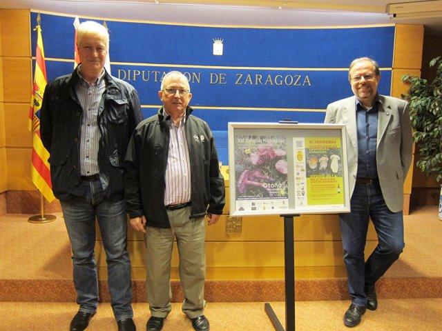 Cortés, Arguedas y Fuster han presentado las dos jornadas micológicas