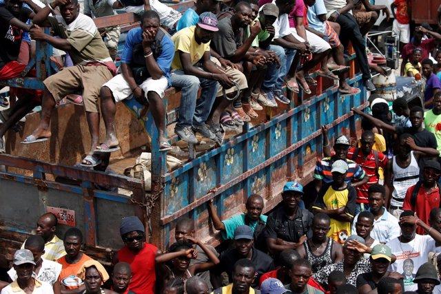 Paso del huracán 'Matthew'  por Haití