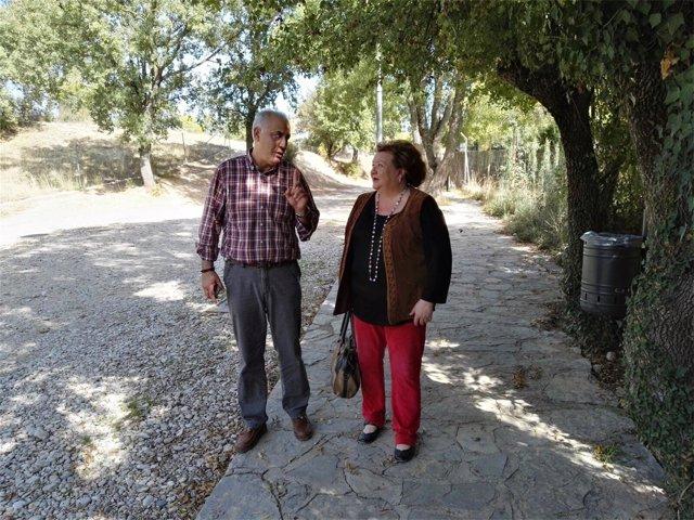 Visita obras de seneamiento en Arroyo Frío