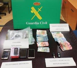 Dos detenidos en A Coruña con un kilo de cocaína de gran pureza