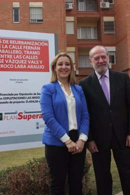 Villalobos y la alcaldesa de Alcalá.