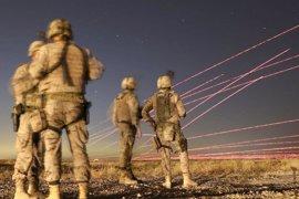 Las tropas españolas adiestran al Ejército iraquí para el combate nocturno en Mosul
