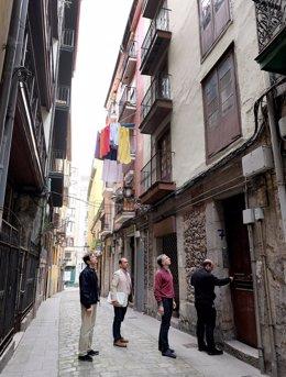 Visita al edificio de la calle Limón