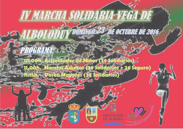 La IV Marcha Solidaria 'Vega de Alboloduy' irá en beneficio de Asociación Anda.