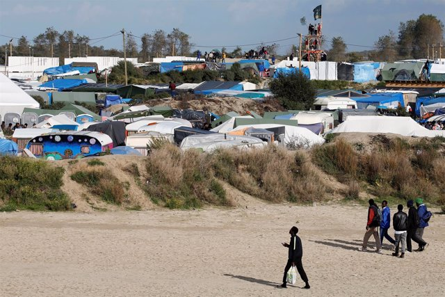 Campamento de inmigrantes en Calais