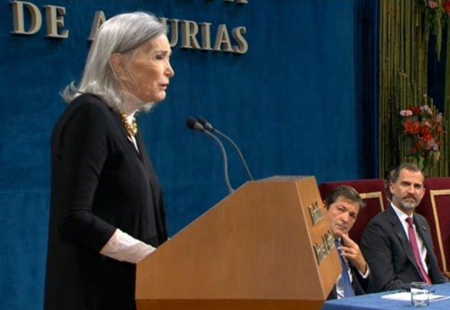 La actriz Nuria Éspert en los Premios Princesa de Asturias 2016