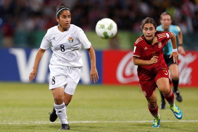 Lorena Navarro, jugadora de la selección española femenina Sub-17