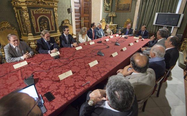 Comisión entre Sevilla y Sanlúcar por la Circunnavegación a la Tierra