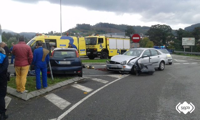 Accidente de tráfico en Pravia