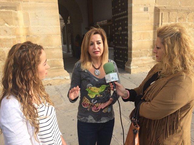 Carmen Lizárraga, en Úbeda (Jaén)