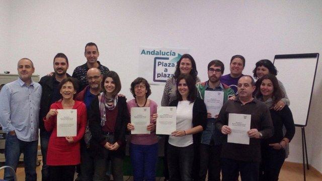 Presentación de documento político de Andalucía Plaza a Plaza
