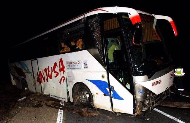 Autobús TAU Castelló accidente