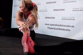 Lidia Valentín amadrina una sesión de fitness en un acto de apoyo a los valores del deporte