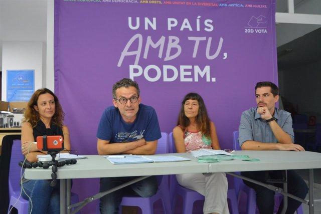 Podemos Ibiza presenta programas para financiar proyectos sociales