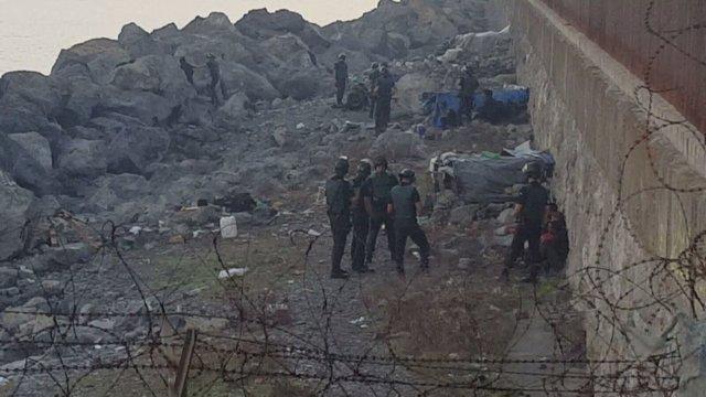 Desalojo de inmigrantes en Ceuta