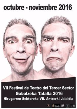 Cartel del VII Festival de Teatro del Tercer Sector de Tafalla