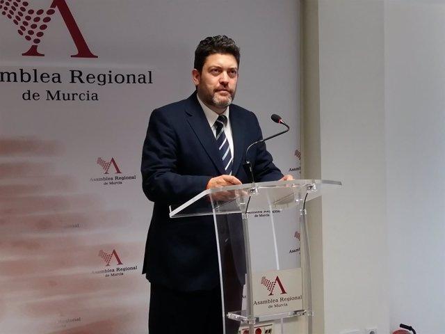 Miguel Sánchez, portavoz regional de Ciudadanos