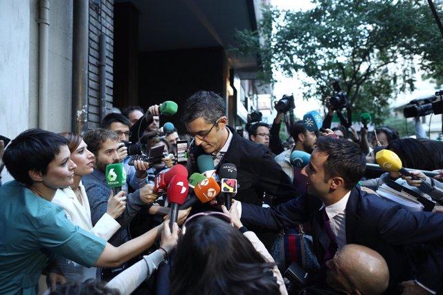 Eduardo Madina en su llegada al Comité Federal del PSOE en Madrid