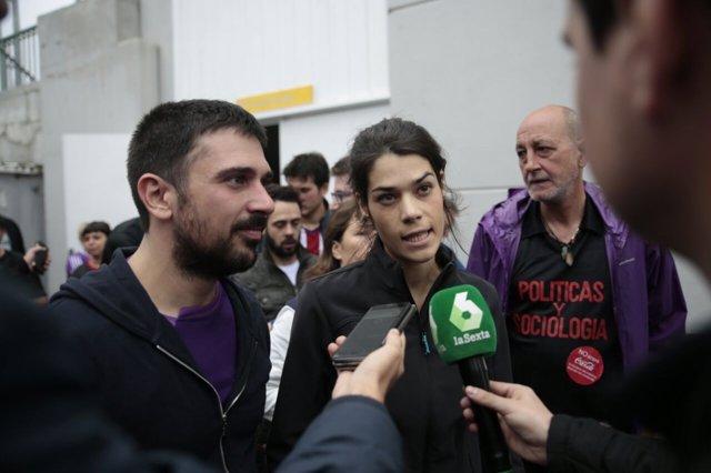 Ramón Espinar e Isabel Serra