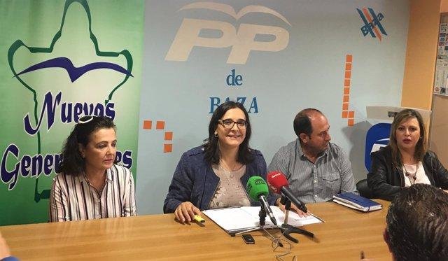 Rueda de prensa del PP de Baza (Granada)